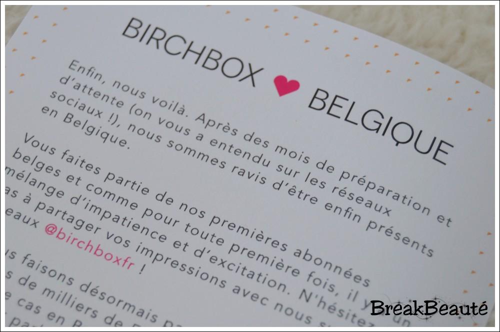 Birchbox débarque en Belgique! (+ la box d'octobre)