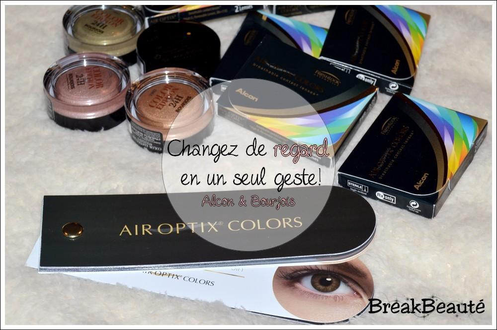 Changez de regard en un seul geste avec les lentilles Air Optix Colors!