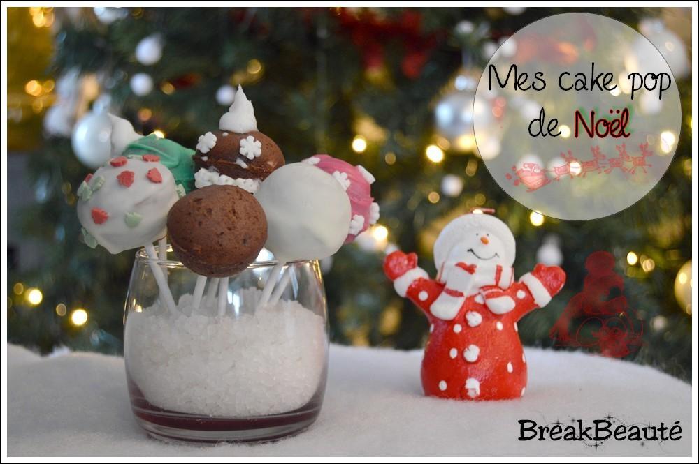Mes Cake Pop de Noël au chocolat