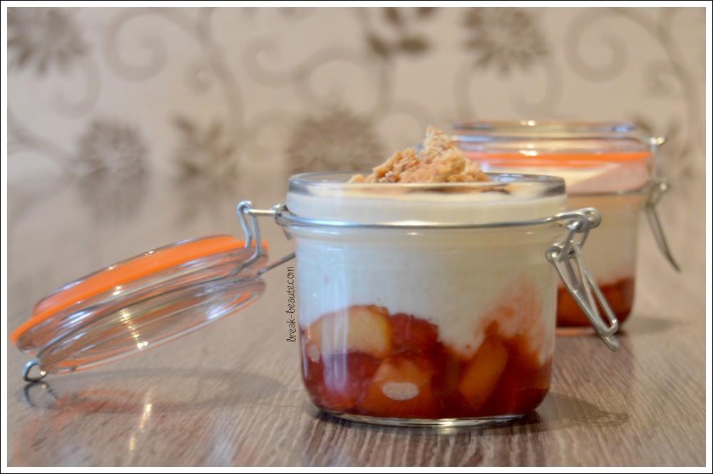 Yaourt + Fruits + Granola = Un trio de choc pour le petit dej!