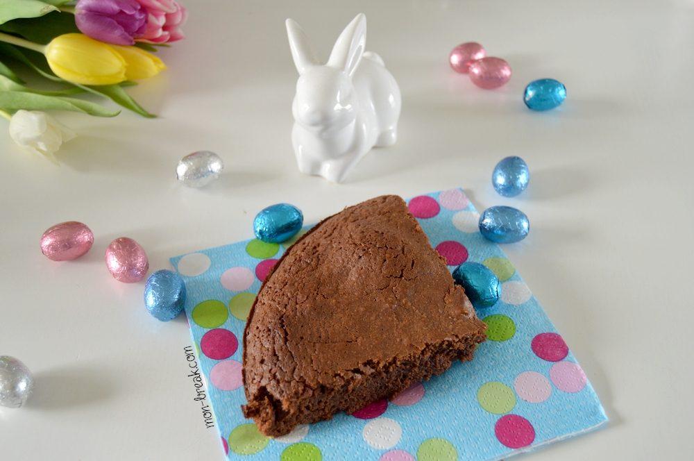 Un gâteau avec les restes de chocolat de Pâques!