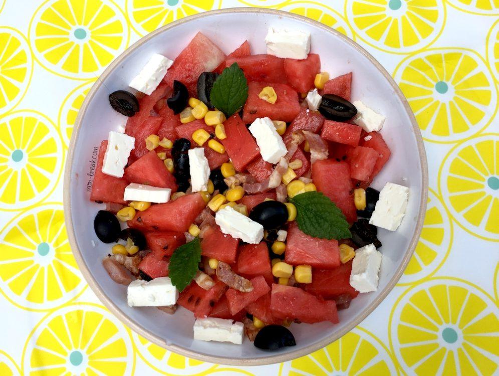 Salade fraicheur à la pastèque