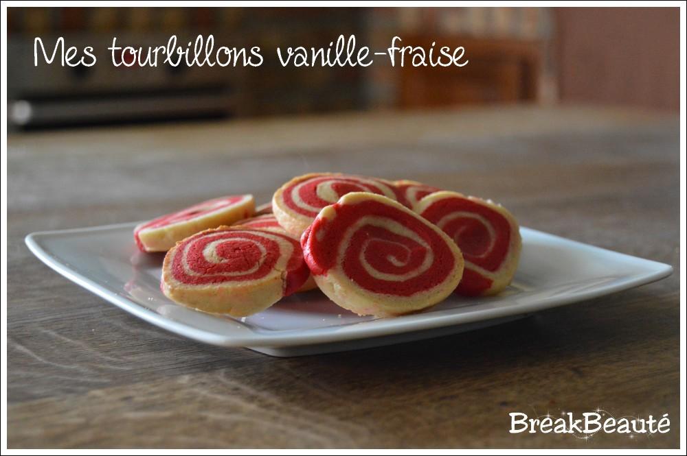 Un tourbillon vanille-fraise dans mes biscuits!