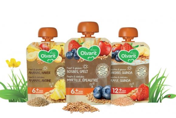 Olvarit associe les fruits et les céréales dans ses nouvelles gourdes!