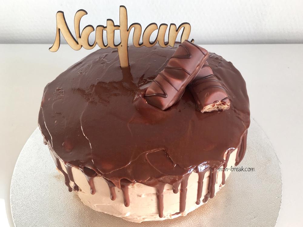 Le gâteau d'anniversaire aux Kinder de Nathan