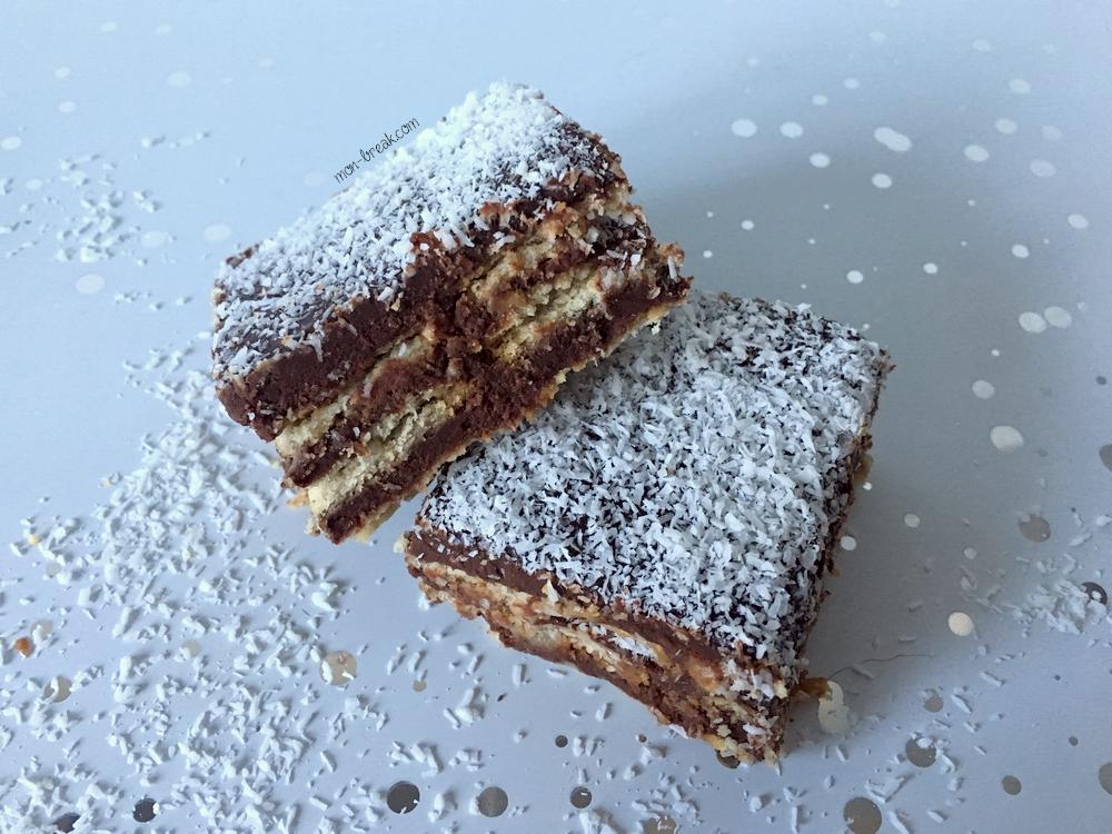 Gâteau sans cuisson aux petits beurre et chocolat